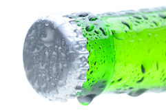 Closeup of a Beer Bottle Neck and Cap Stock Photography