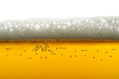 Closeup of beer bubbles Stock Images