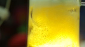 Closeup of Beer poured into a glass stock video