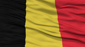 Closeup Belgium Flag. Waving in the Wind, High Resolution Stock Images