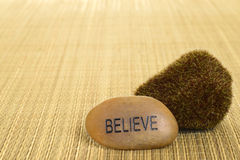 Closeup believe stone Royalty Free Stock Images