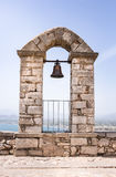 Closeup of bell on Palamidi medieval fortress, Nafplio, Greece Royalty Free Stock Images