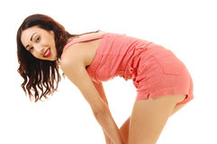 Closeup of bending girl. Stock Photography