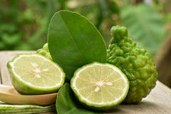 Closeup bergamot slice. Cross section bergamot or Bergamot slice stock photos