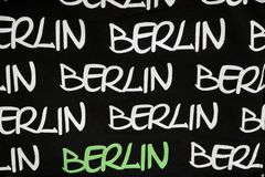 Closeup of Berlin sign on the fabric Royalty Free Stock Photos