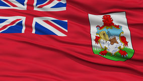Closeup Bermuda Flag Stock Photography