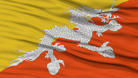 Closeup Bhutan Flag Stock Photos