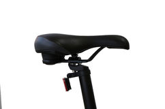 Closeup of a bicycle saddle at the white background Royalty Free Stock Image