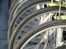 Closeup of a Bicycle Tire Stock Images