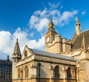 Closeup on Big Ben and the spires of Westminster Palace. London, UK Royalty Free Stock Images