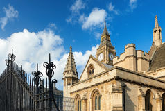 Closeup on Big Ben and the spires of Westminster Palace. London, UK Stock Photography