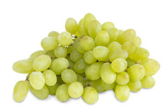 Closeup of big bunch of fresh green table grapes Royalty Free Stock Photos