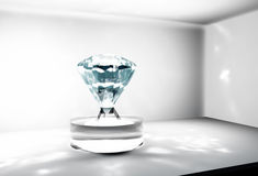 Big diamond into a safe Royalty Free Stock Photo