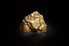 Closeup of big gold nugget Royalty Free Stock Photography