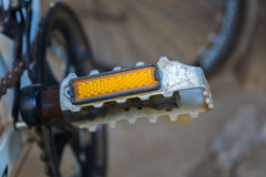 Closeup a bike pedal. Close up a bicycle pedal Royalty Free Stock Image