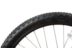Closeup of bike tire Stock Photography
