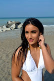 Closeup of bikini girl. Royalty Free Stock Photos