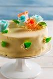 Closeup of Birthday cake Stock Photography