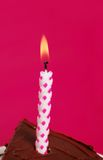 Closeup of birthday candle Royalty Free Stock Photos