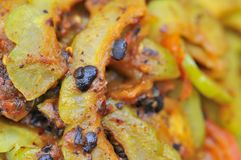 Closeup of bitter gourd delicacy Royalty Free Stock Image