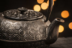 Cast iron teapot Stock Photos