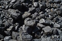 Closeup of black coal texture-background Royalty Free Stock Photo