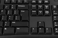 Closeup of black computer keyboard Stock Images