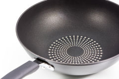 Closeup black frying pan isolated Royalty Free Stock Photo