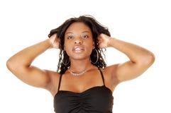 Closeup of black girl. Royalty Free Stock Photo
