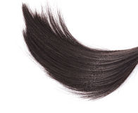 Closeup black hair on white background. Stock Photo