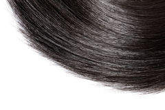 Closeup black hair on white background. Stock Photography