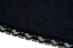 Closeup of Black Lace Stock Images