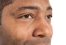 Closeup of black man Royalty Free Stock Image