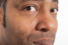 Closeup of black man Stock Photos