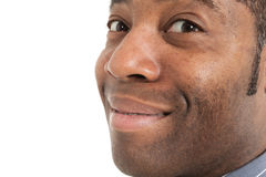 Closeup of black man Royalty Free Stock Images