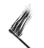 Closeup black mascara brush strokes Stock Photos