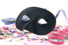 Closeup black mask Royalty Free Stock Image