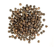 Closeup of black pepper. Isolated on white stock photography