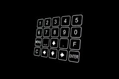 Closeup of black security door keypad Stock Image