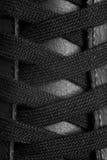 Black shoelace Royalty Free Stock Images