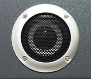 Closeup of black speaker Stock Photography