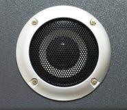 Closeup of black speaker Stock Photography
