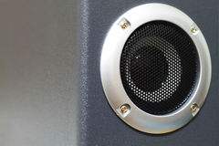Closeup of black speaker Royalty Free Stock Photo