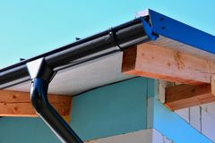 Roof gutter Stock Images