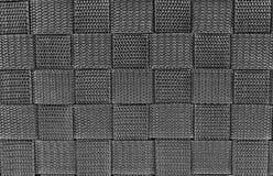 Closeup  black synthetic braid texture Stock Photos