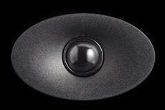 Closeup of black tweeter speaker Stock Photography