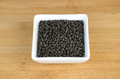 Closeup of black urad dal lentis Stock Photos