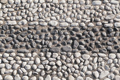 Closeup of black and white big pebble rocks Stock Image