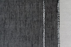 Closeup black and white color fabric texture. Royalty Free Stock Photo