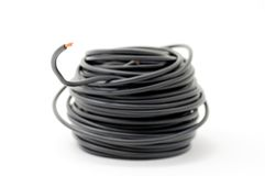 Closeup of black wire Royalty Free Stock Photo